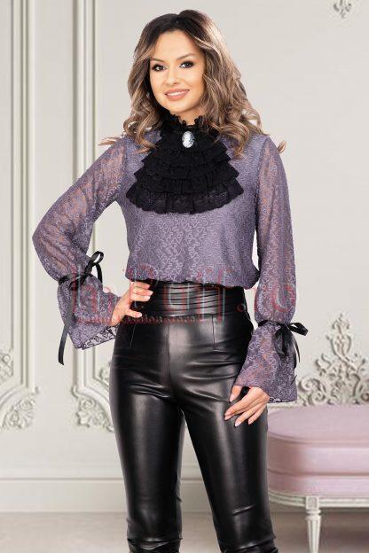 Bluza eleganta dama gri