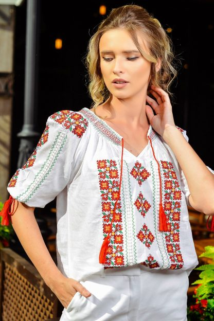 Bluza traditionala Anais - rosie