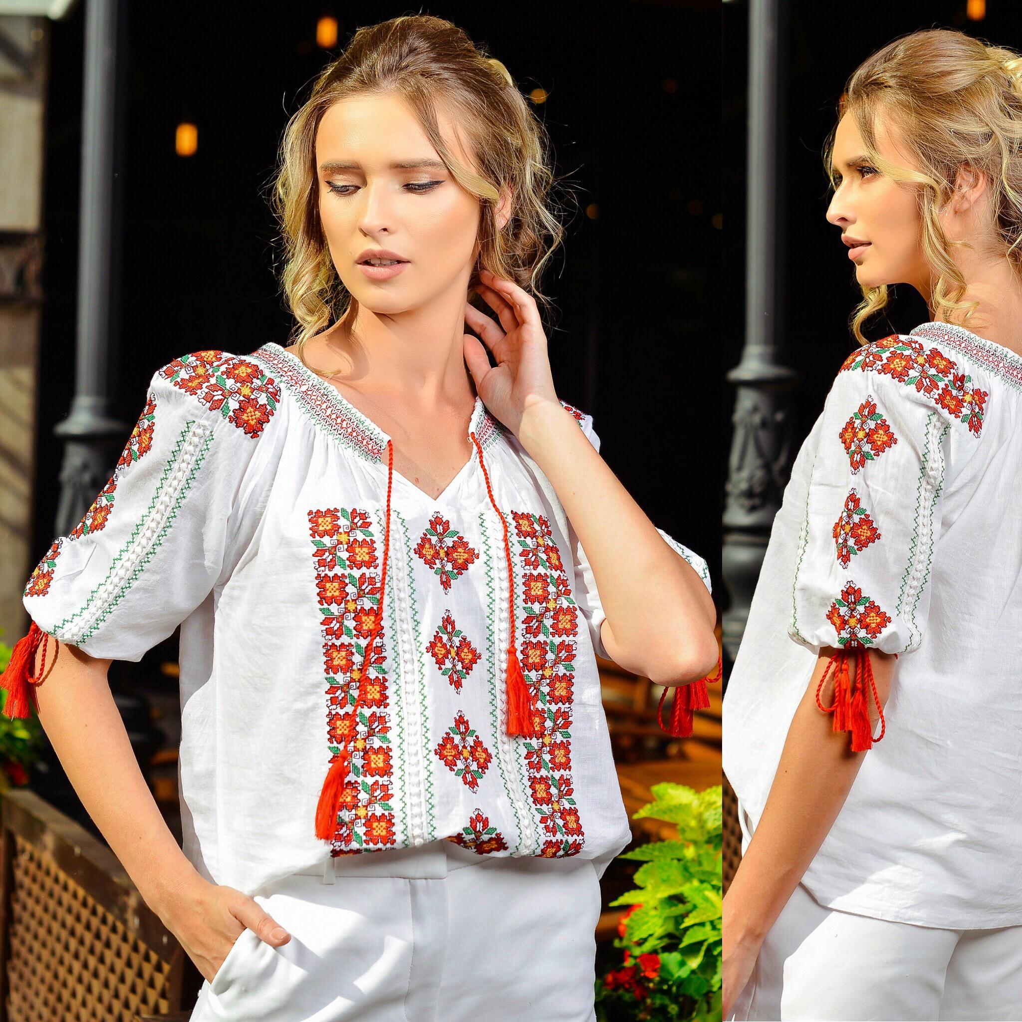 Bluza traditionala Anais - rosie