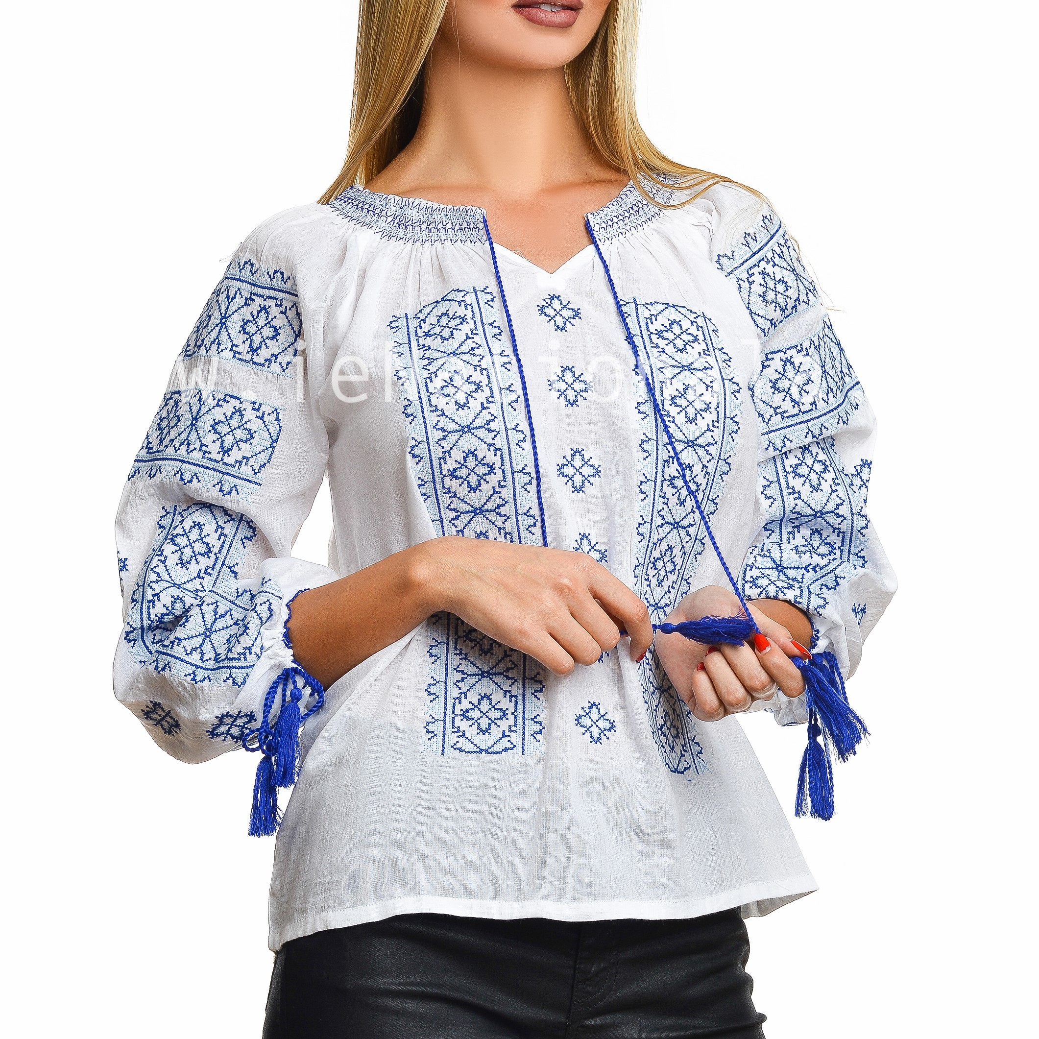 Bluza traditionala - BRIANA alba 02