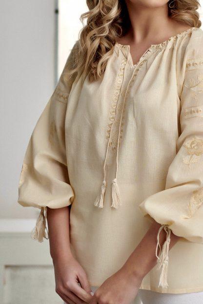 Bluza Traditionala Crem brodata - Tania