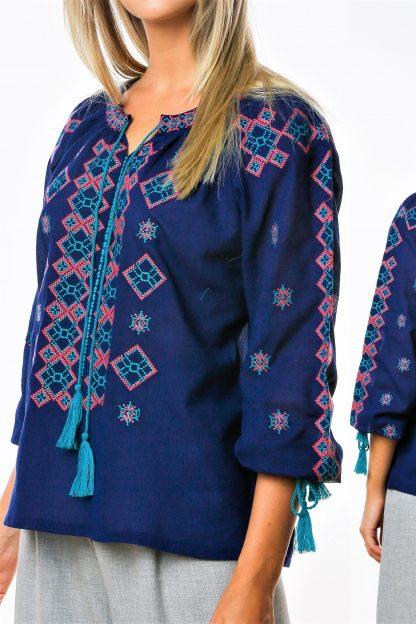 Bluza Traditionala - Lora bleumarin 02