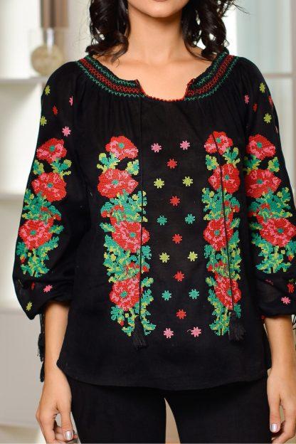 Bluza traditionala neagra - Roxana 02