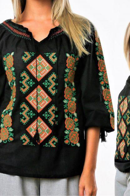 Bluza Traditionala - Svetlana neagra 02