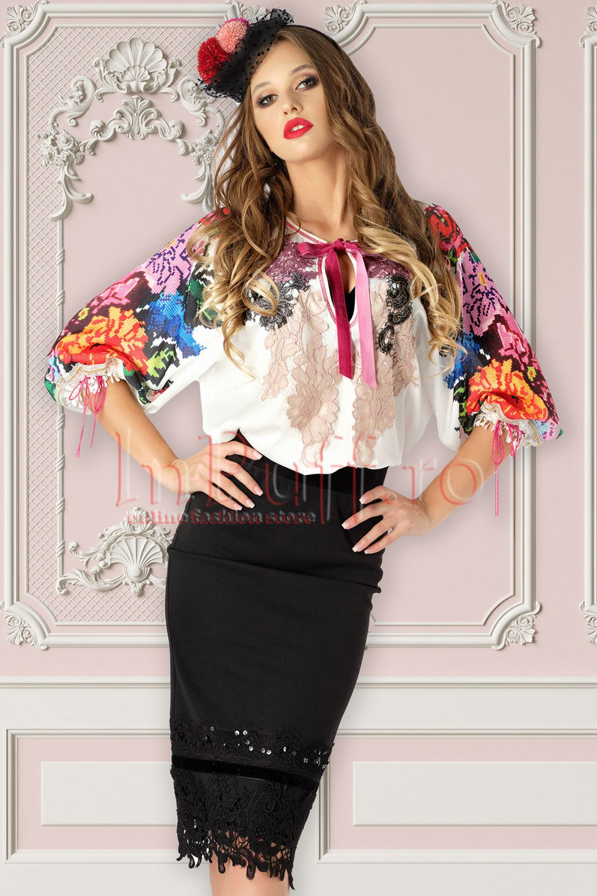 Bluza Venezia cu motive traditionale