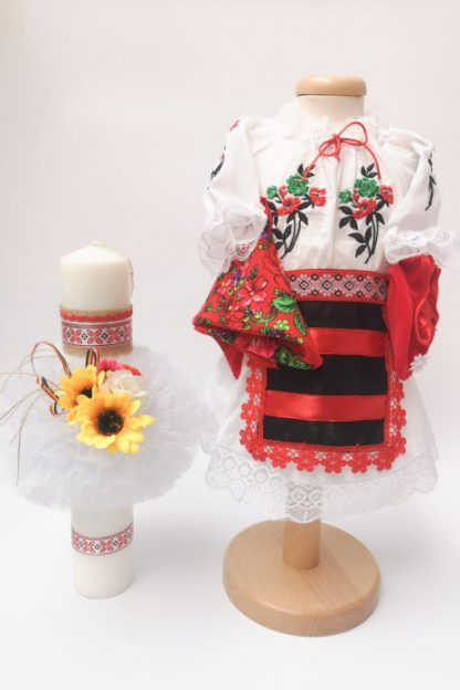 Set Traditional Botez Costumas fetita Lumanare