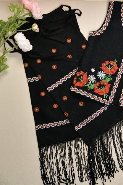 Costum traditional format din vesta si fota pt. fetite - Elisabeta