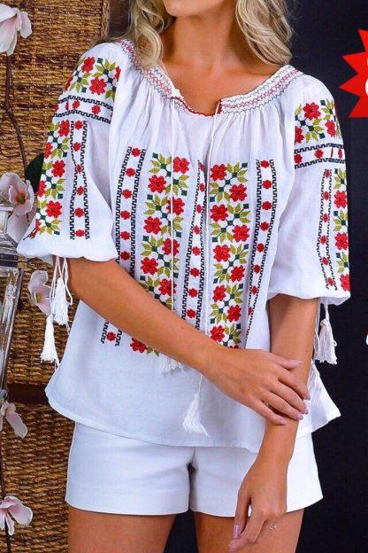 IE Traditionala cu broderie florala - Anisoara