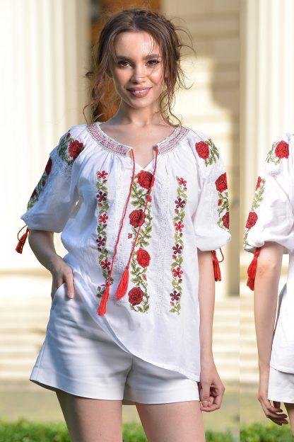 IE Traditionala cu trandafiri brodati - Rosa 06