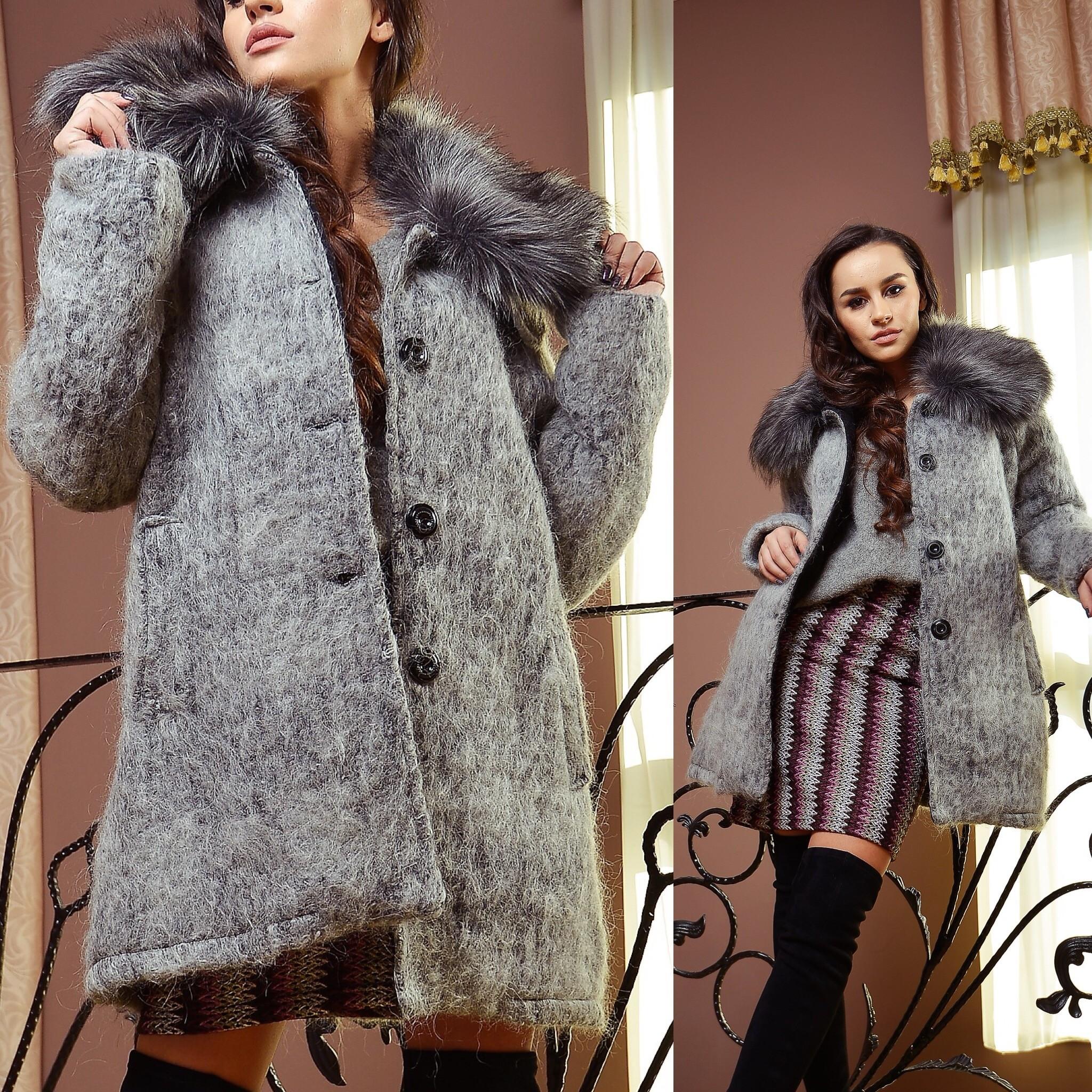 Palton gros din lana cu croi drept - Maria 01