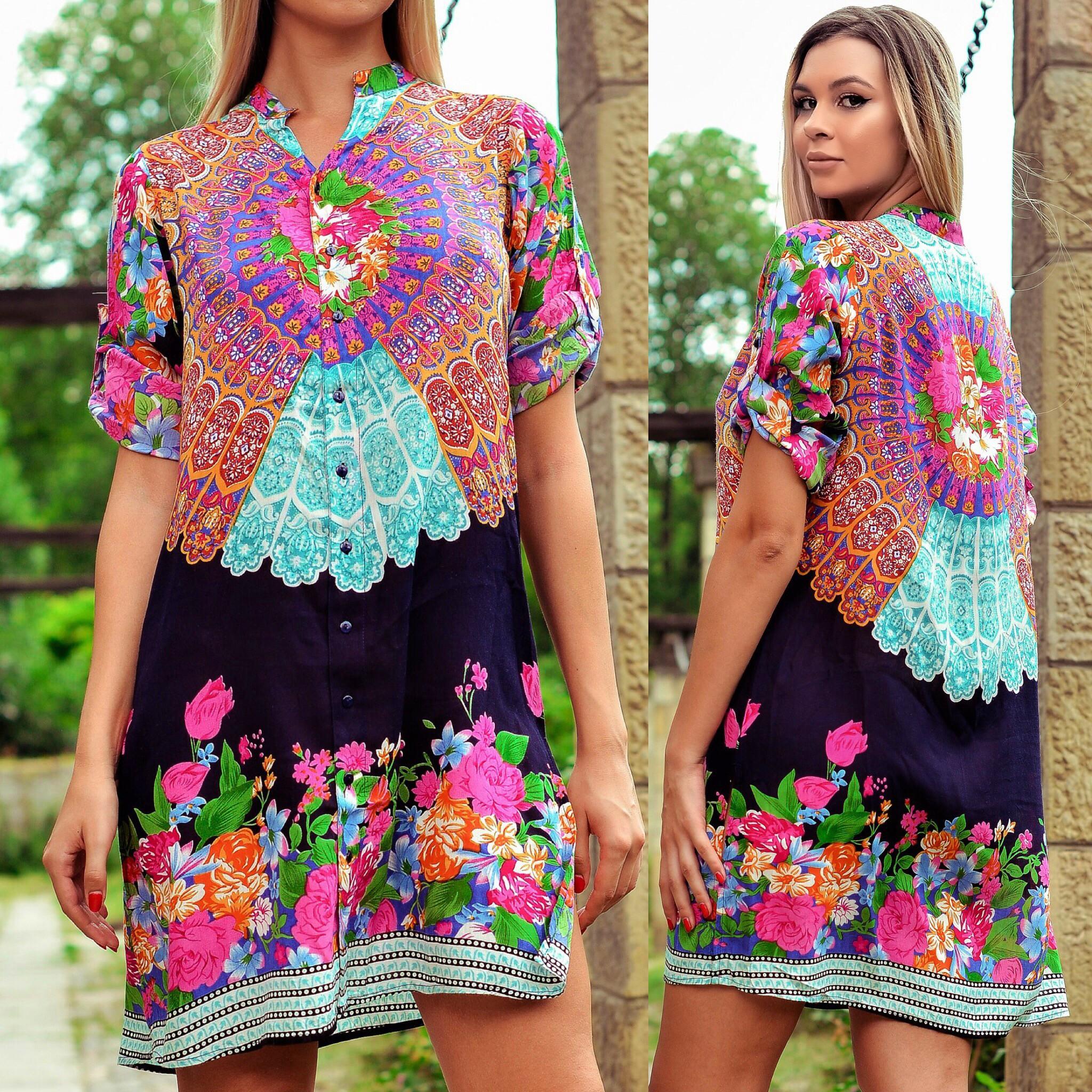 Rochie - camasa cu imprimeu floral - Jasmine