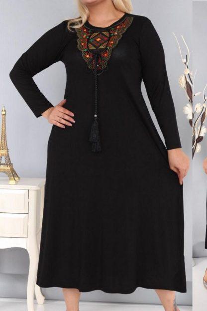 Rochie casual neagra - Clara