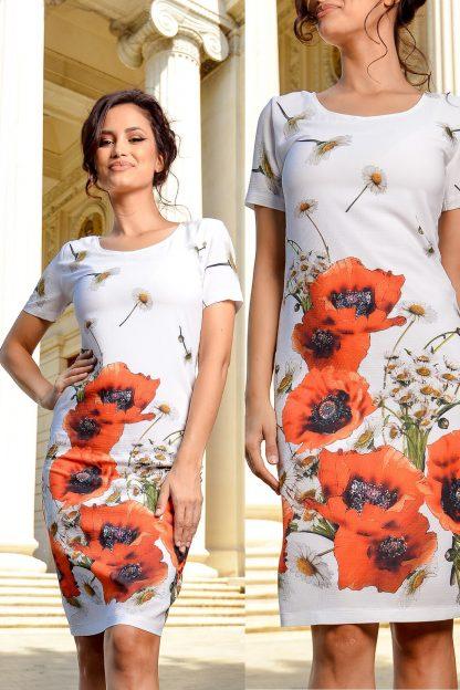 Rochie cu imprimeu floral - maci