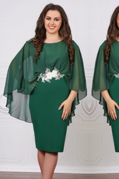Rochie eleganta din voal verde - Livia