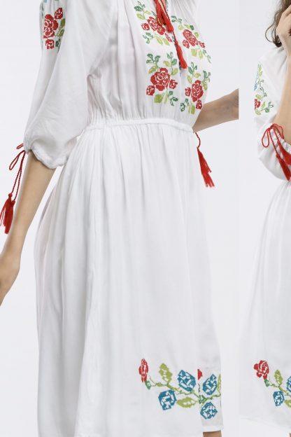 Rochie Traditionala alba - Clarisa