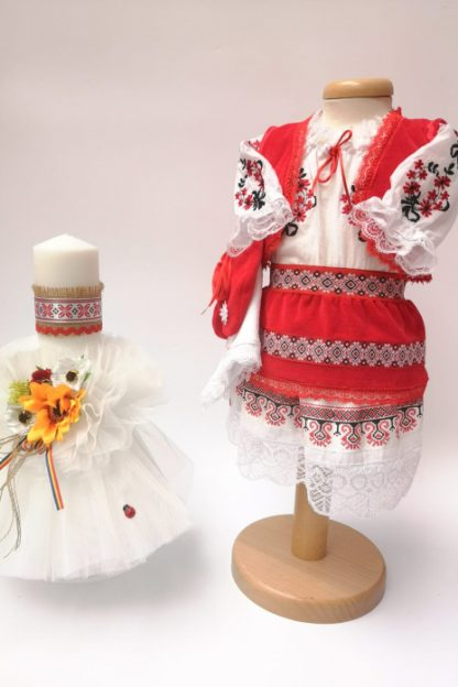 Set Traditional Botez Costumas fetita Lumanare 4