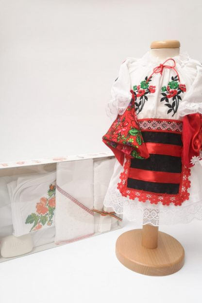 Set Traditional Botez Costumas fetita Trusou