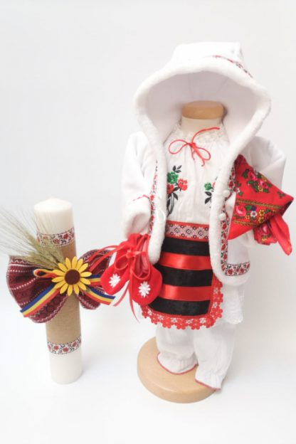 Set Traditional Botez Costumas fetita Lumanare 5