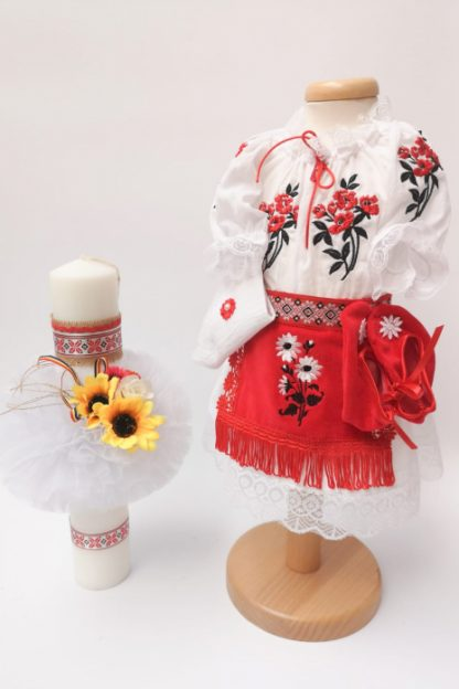 Set Traditional Botez Costumas fetita Lumanare 2