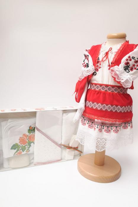 Set Traditional Botez Costumas fetita Trusou 3