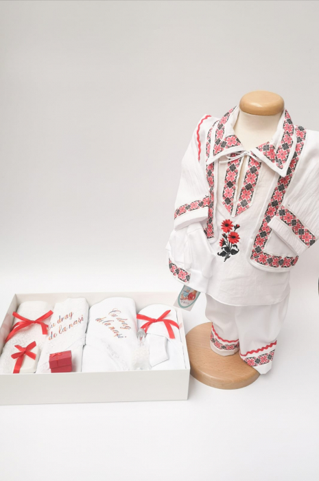 Set Traditional Botez Costumas baiat Trusou baiat