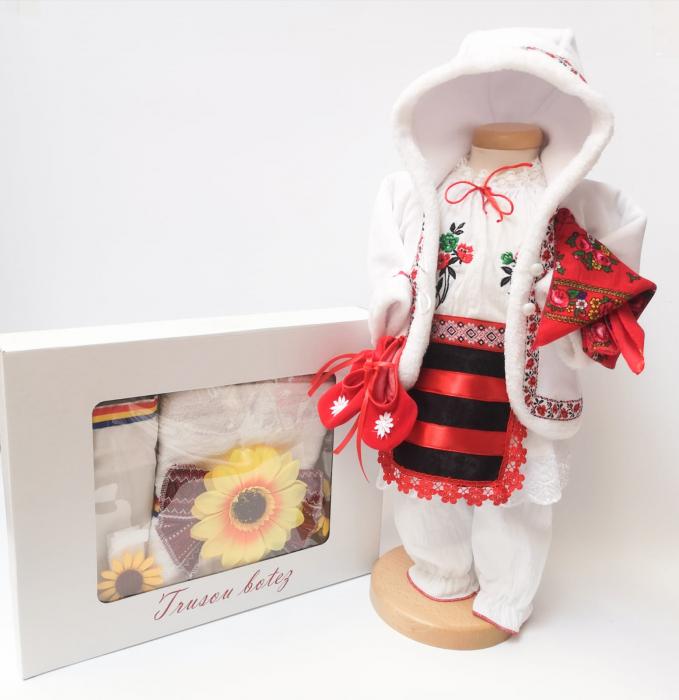 Set Traditional Botez Costumas fetita Trusou 5