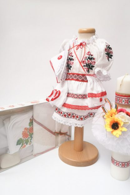 Set Traditional Botez Costumas fetita Trusou Lumanare 2